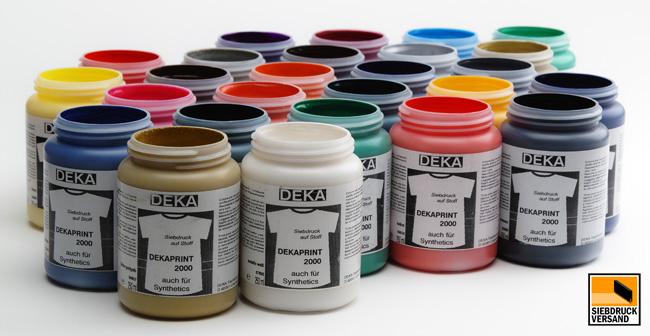 siebdruckfarbe dekaprint f r helle textilien siebdruckversand der online shop f r. Black Bedroom Furniture Sets. Home Design Ideas