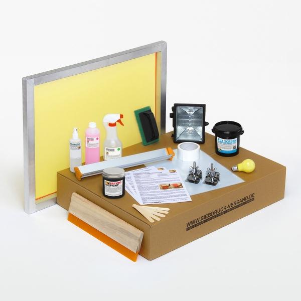 siebdruck set f r drucke auf papier leinwan und karton. Black Bedroom Furniture Sets. Home Design Ideas