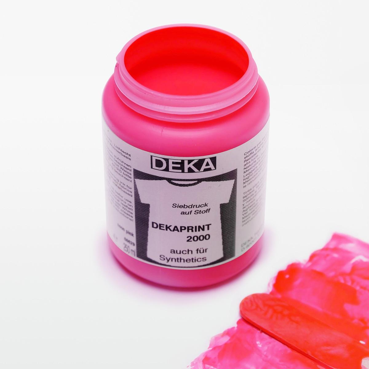 neon siebdruckfarbe pink von dekaprint kaufen siebdruckversand der online shop f r. Black Bedroom Furniture Sets. Home Design Ideas