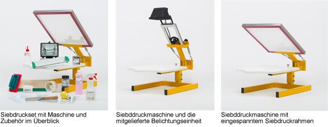 siebdruck set pro f r textilien ideal f r anf nger siebdruckversand der online shop f r. Black Bedroom Furniture Sets. Home Design Ideas