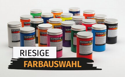 Riesige Farbauswahl